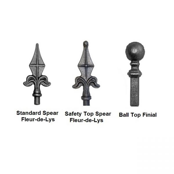 ball spear top finials