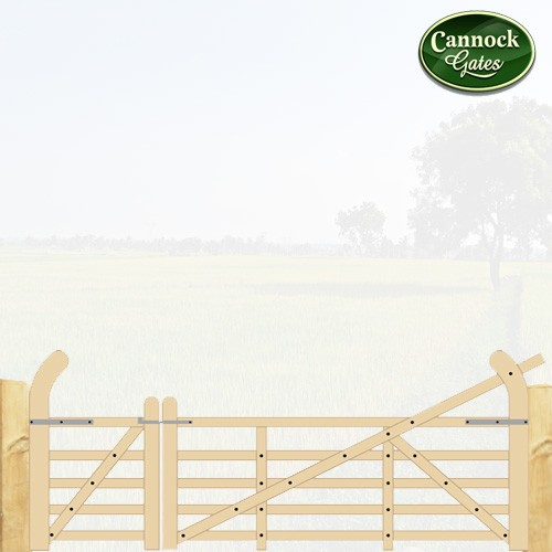county wooden field gate