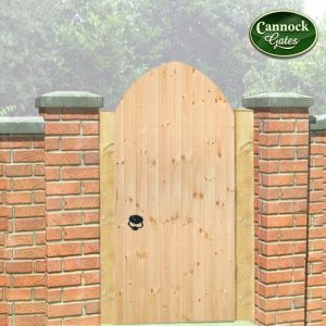 Gothic Tall wooden garden gate
