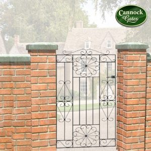 regent tall metal garden gate