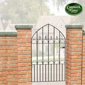 royal gothic tall metal garden gate