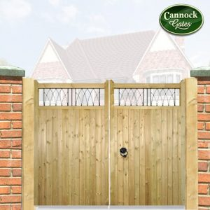 staffordshire tall wooden driveway gates