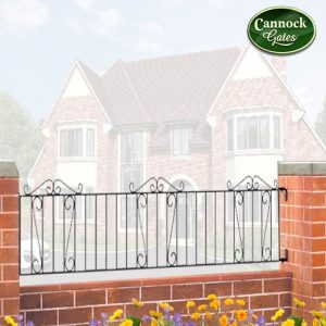 clifton metal garden railings