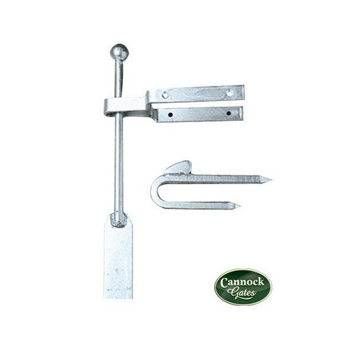 spring latch and catch for wooden garden gates