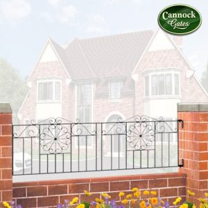 regent metal garden railings
