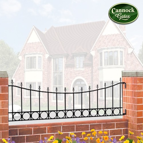 royal talisman dipped metal garden railing